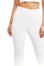 ZALIA SLIM PANT in colour SNOW WHITE