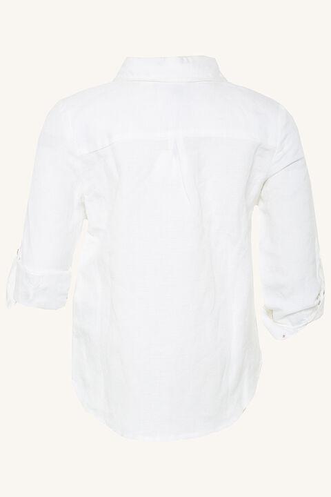 BERNARD LINEN SHIRT in colour BRIGHT WHITE
