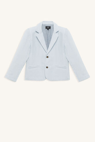 MILES LINEN BLAZER in colour ILLUSION BLUE
