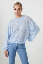 THE OVERSIZED CABLE KNIT in colour CROWN BLUE