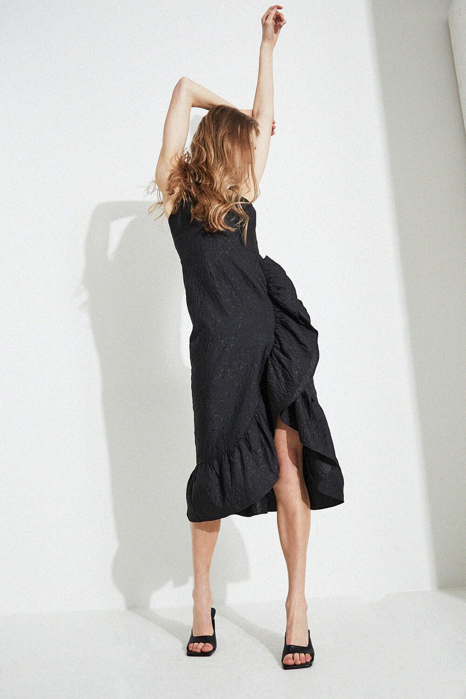 EMMALINE DRESS in colour CAVIAR
