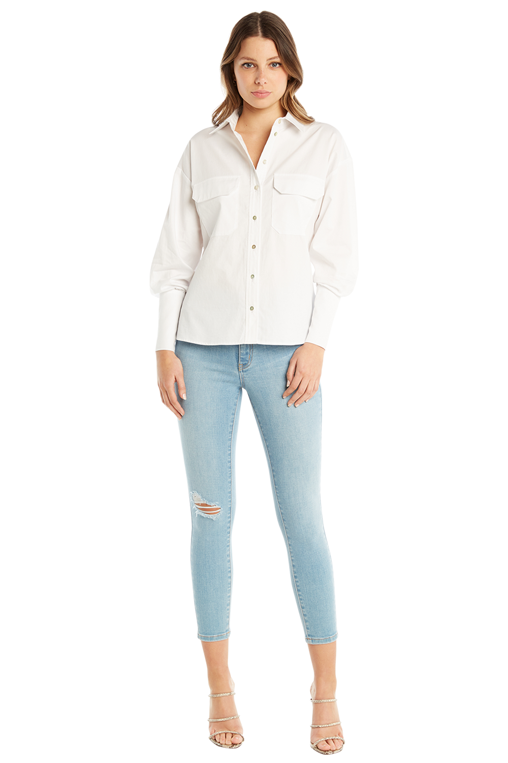 OVERSIZE SHIRT in colour BRIGHT WHITE