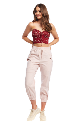 DITSY TIE TOP in colour CANYON ROSE