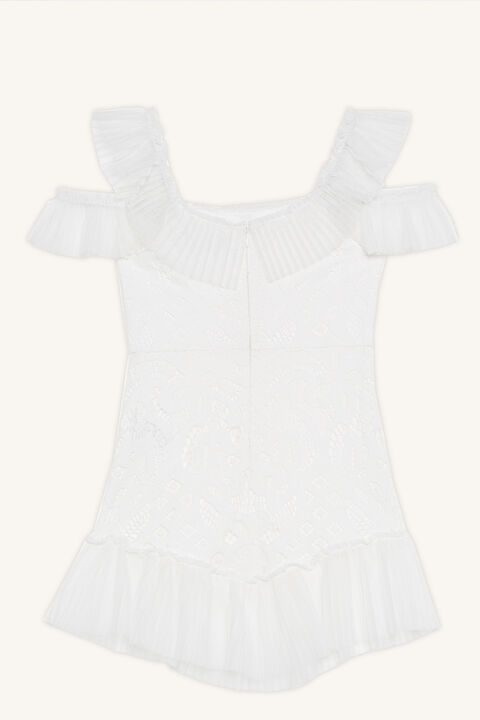 SOPHIE LACE DRESS in colour CLOUD DANCER