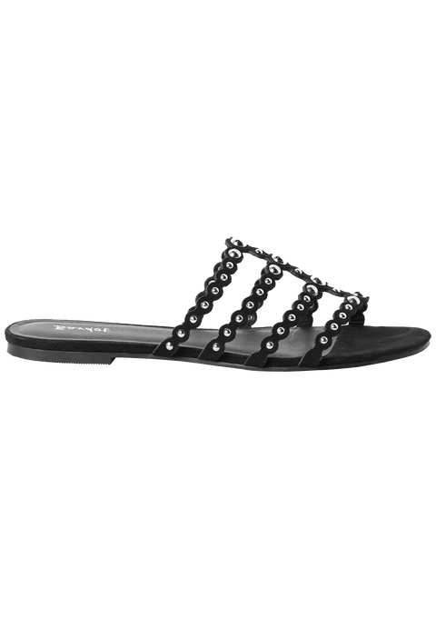 STUDDED FLAT BACK SLIDE in colour METEORITE