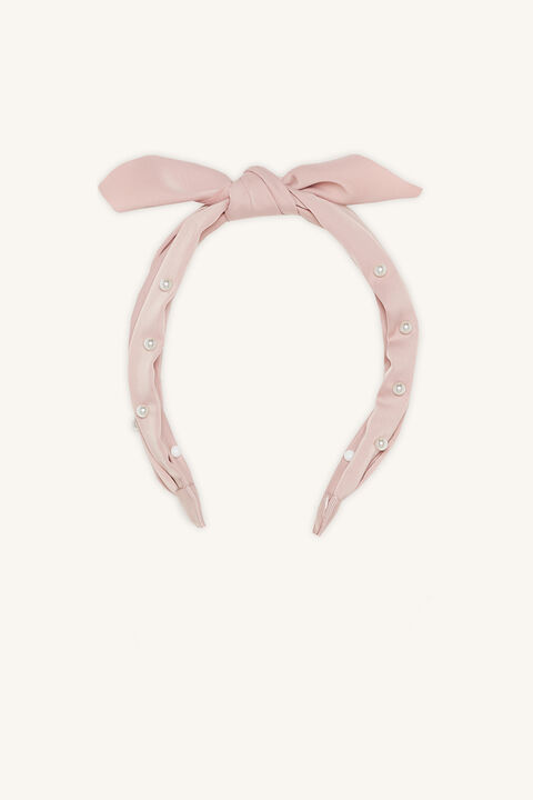 PEARL HEADBAND in colour PINK CARNATION
