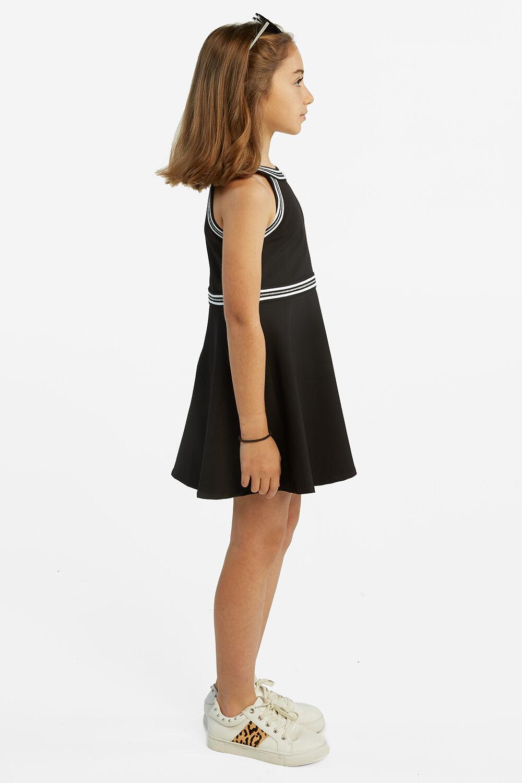 HAZEL HALTER DRESS in colour JET BLACK