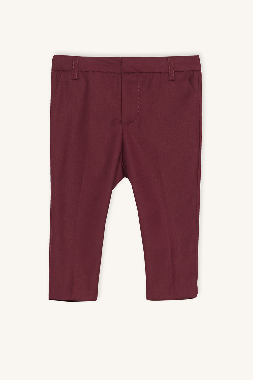 BABY BOY tapered suit pant in colour BURGUNDY