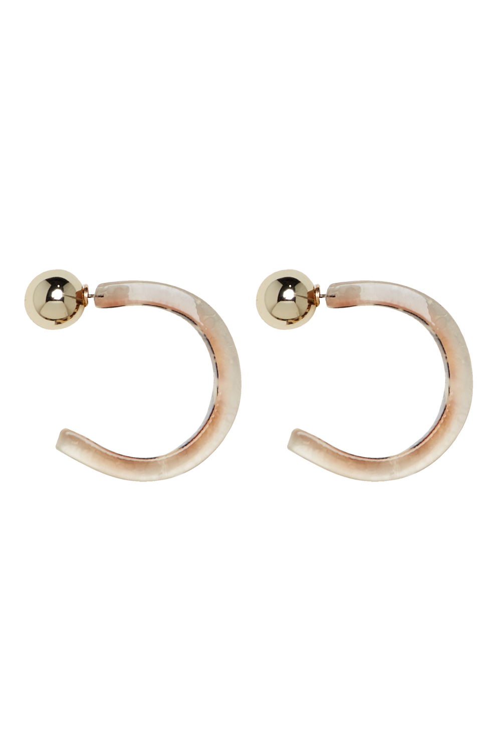 LEOPARD HOOPS in colour ANTELOPE