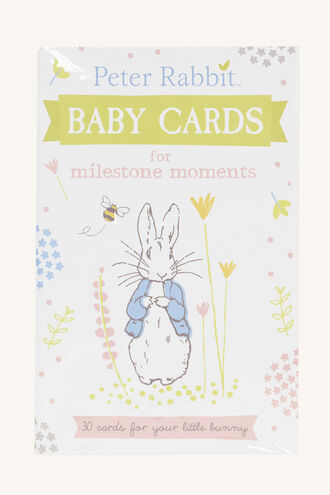 PETER RABBIT MILE STONE CARDS in colour BRIGHT WHITE