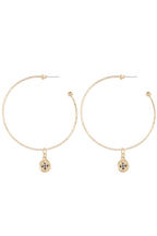 ETERNAL CHARM_ HOOPS in colour GOLD EARTH