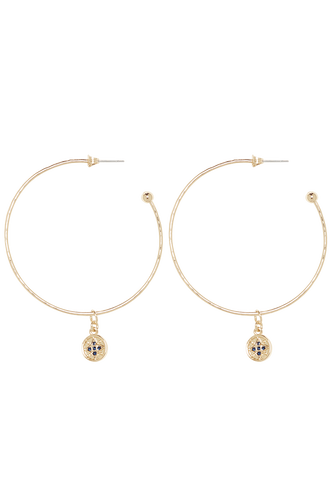 ETERNAL CHARM� HOOPS in colour GOLD EARTH