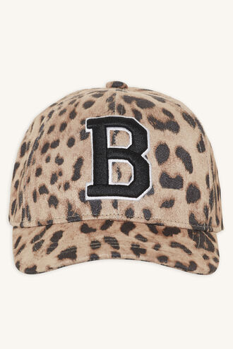 LEOPARD CAP in colour ANTELOPE
