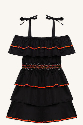 KIERA DRESS in colour JET BLACK