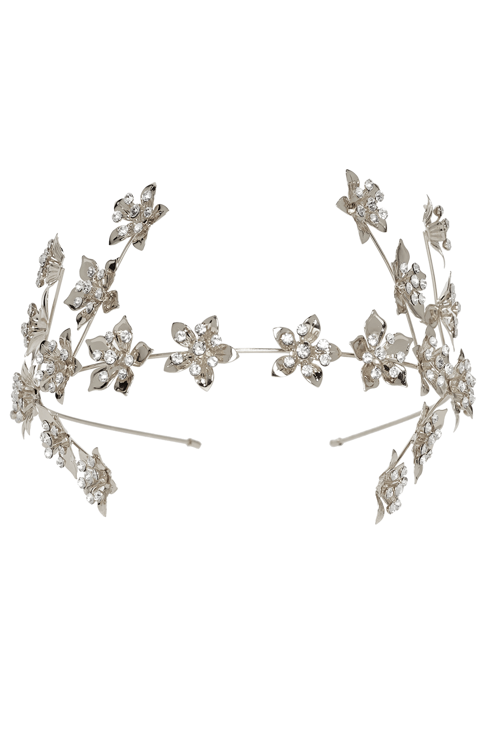 FLOWER BRANCH HEADBAND in colour SILVER