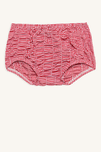 GINGHAM BLOOMER in colour TANGO RED