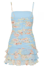 REMI FLORAL DRESS in colour HINT OF MINT
