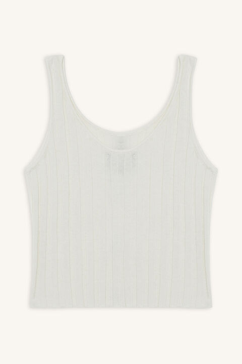 STELLA KNIT TANK in colour CLOUD DANCER