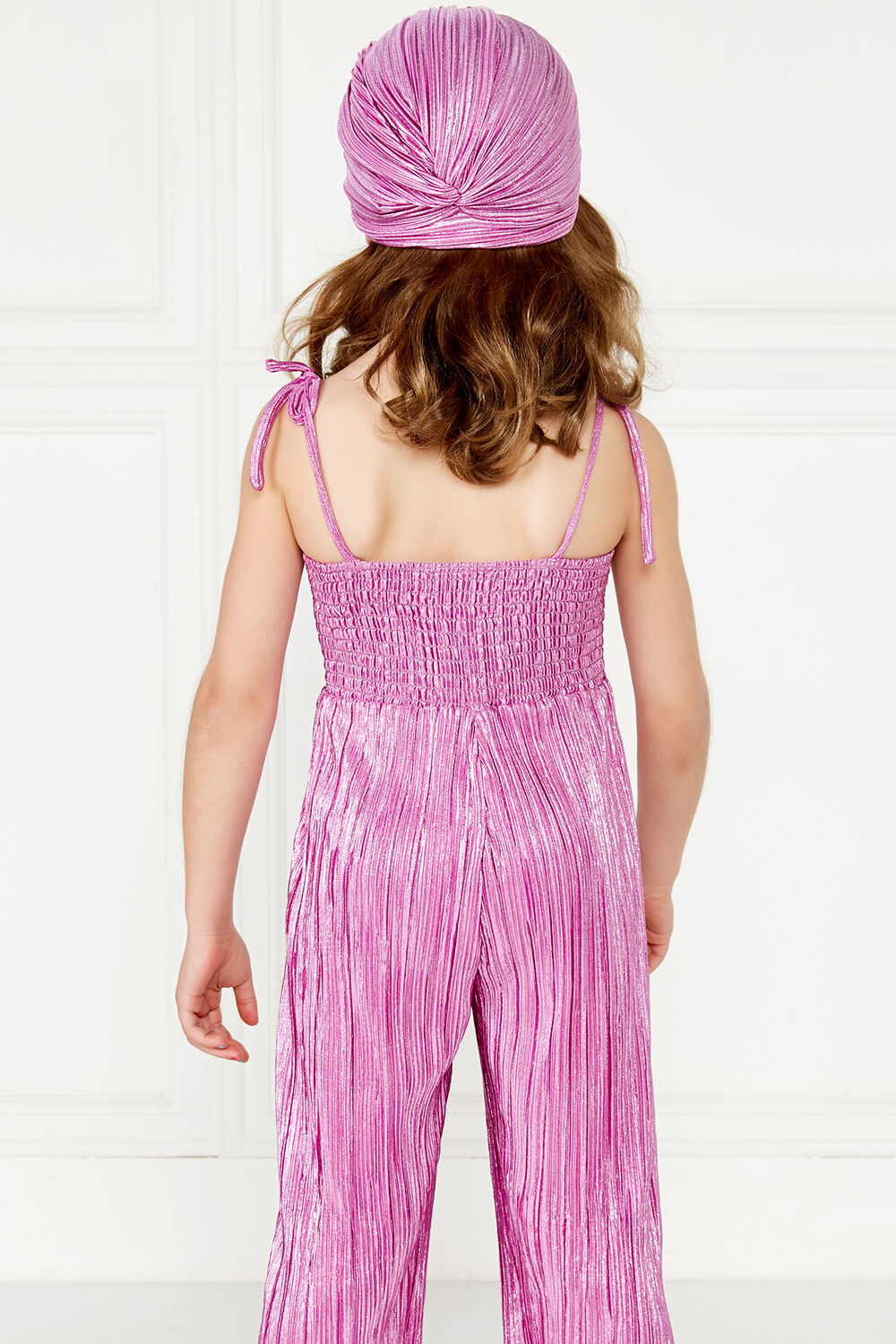 SHIMMER JUMPSUIT in colour PURPLE ORCHID