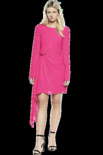 STILLA DRAPE DRESS in colour BEETROOT PURPLE