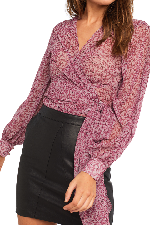 DIANA WRAP TOP in colour WILD ORCHID