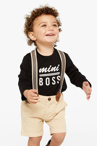 MINI BOSS L/S TEE in colour JET BLACK