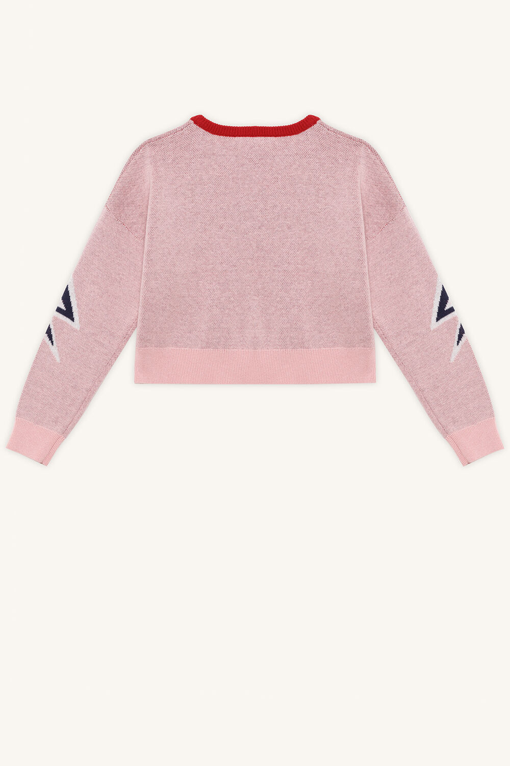 GIRL KNIT SWEAT TOP in colour PEACHSKIN