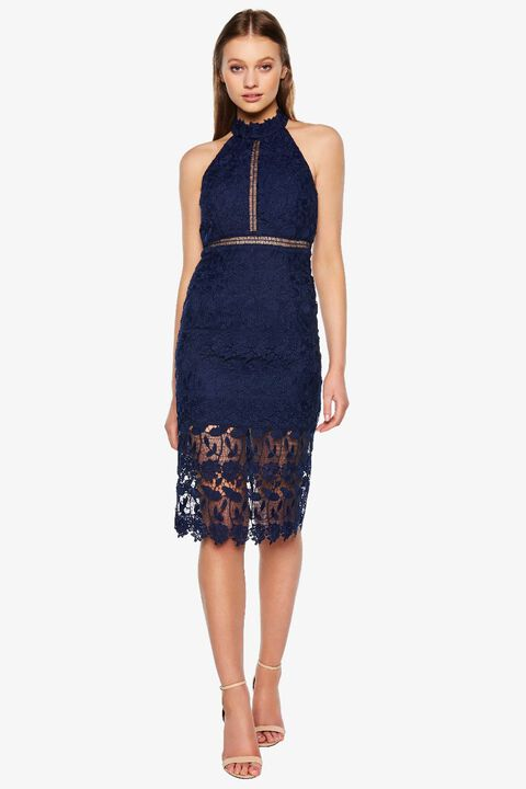 NONI HALTER DRESS in colour MARITIME BLUE