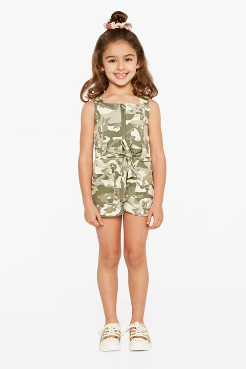 EDEN CARGO PLAYSUIT in colour BURNT OLIVE
