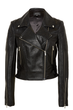 KORA BIKER JACKET in colour CAVIAR