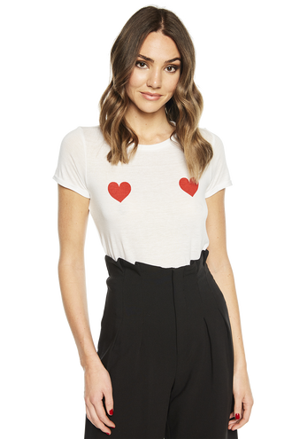 LOVE TEE in colour BRIGHT WHITE