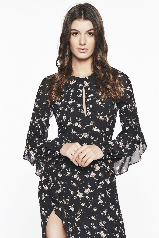 NATALIA DRESS in colour CAVIAR