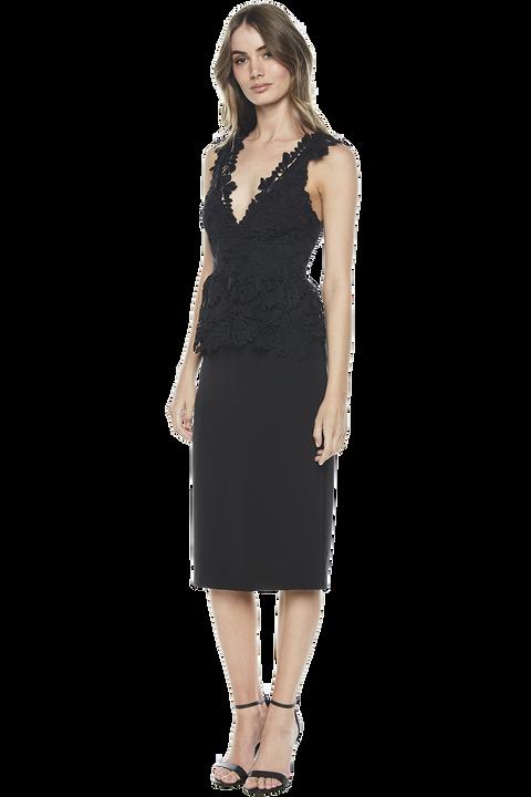 VALENCIA LACE DRESS in colour CAVIAR