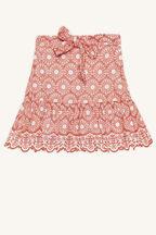 tween girl virginia skirt in colour MANDARIN RED