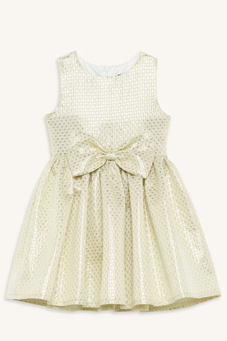 GOLD BOW DRESS in colour FROSTED ALMOND