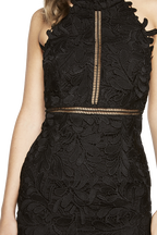KARA HALTER DRESS in colour CAVIAR