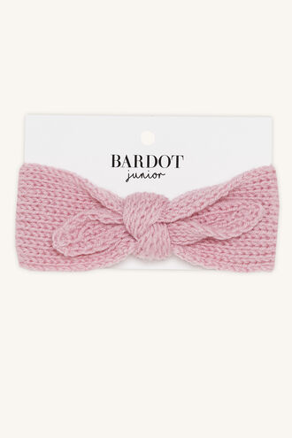 BABY KNIT HEADBAND in colour PINK CARNATION