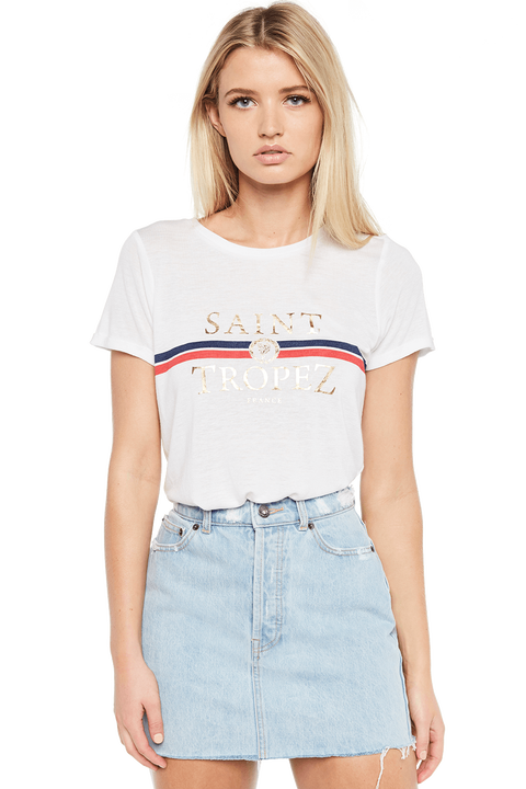 SAINT TROPEZ TEE in colour BRIGHT WHITE