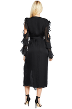MIDNIGHT DRESS in colour CAVIAR