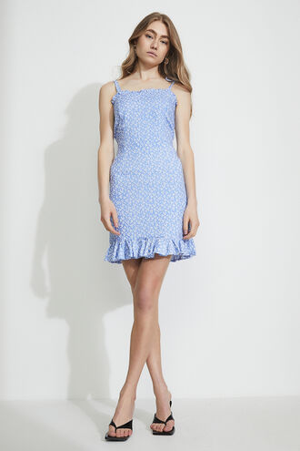DITSY MINI FLIP DRESS in colour ANDORRA