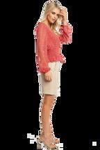 PAISLEY SHIRRED TOP in colour SKI PATROL