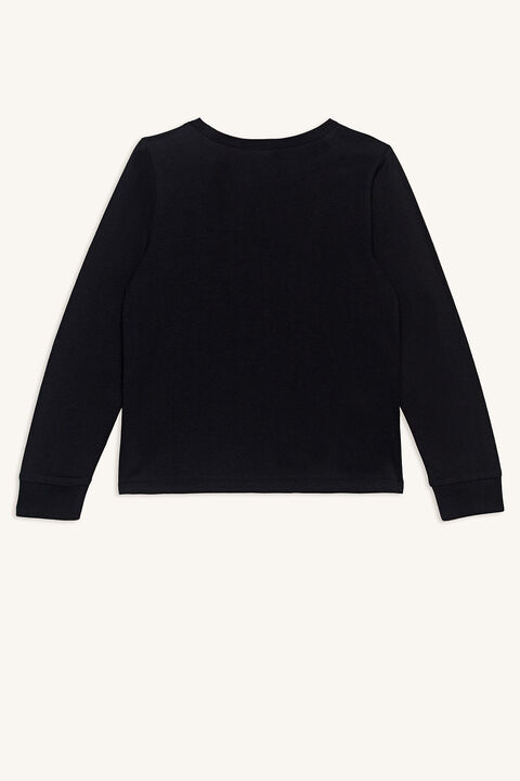 BABY BOY ELECTRIC LONG SLEEVE TOP in colour JET BLACK