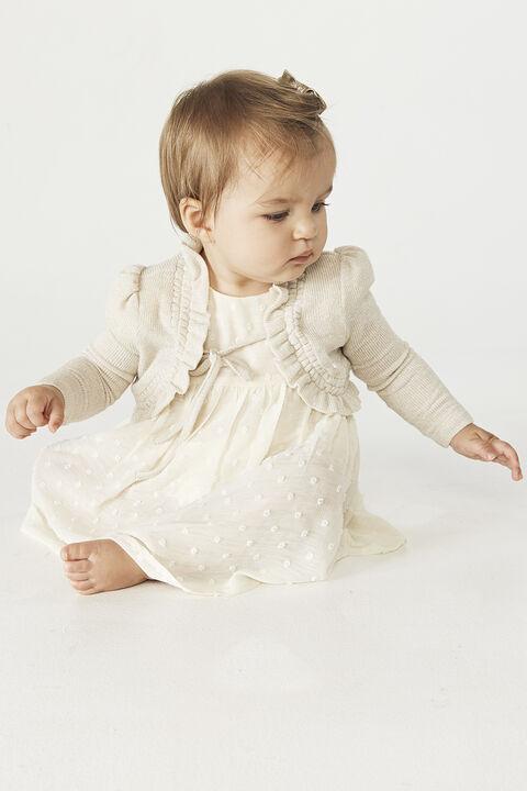 BABY GIRL INEZ BOLERO CARDI in colour CLOUD DANCER
