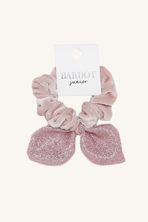 BUNNY EAR SCRUNCHIE in colour PINK CARNATION