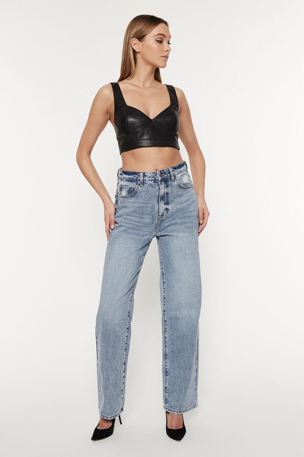 PIA STRAIGHT JEAN in colour MIDNIGHT NAVY