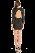 METALLIC KNIT DRESS in colour CAVIAR