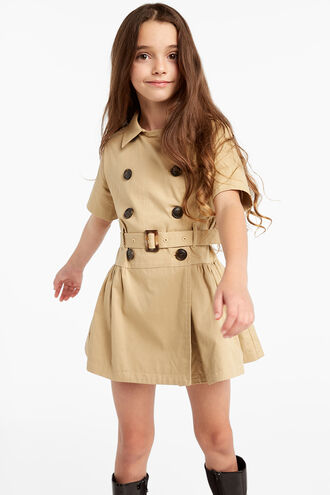 CINDY TRENCH DRESS in colour BEIGE