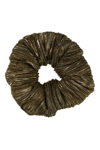 PLEATED SCRUNCHIE in colour GOLD EARTH