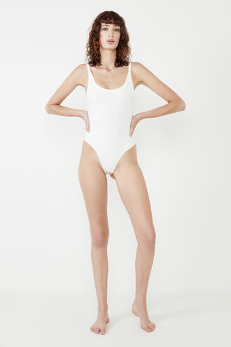 RIB BODYSUIT in colour BRIGHT WHITE