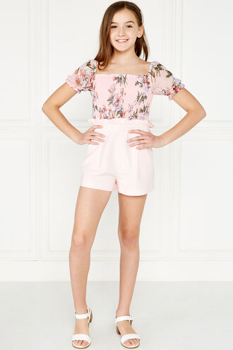 JOANIE PUFF SLV TOP in colour HEAVENLY PINK